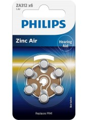 Philips baterie do naslouchadla 6ks (ZA312B6A/10)