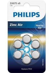 Philips baterie do naslouchadla 6ks (ZA675B6A/10)