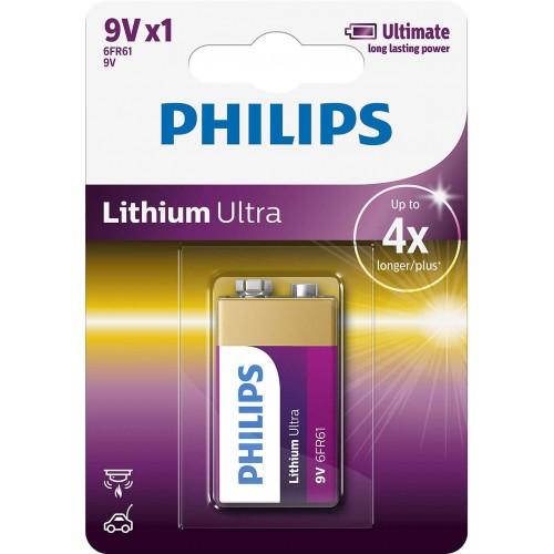 Baterie Philips Lithium Ultra 9V 1ks