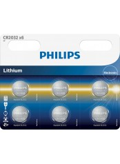 Philips baterie LITHIUM 6ks (CR2032P6/01B, CR 2032, 3,00V)