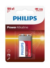 Philips baterie POWER ALKALINE 1ks (6LR61P1B/10, 9V)