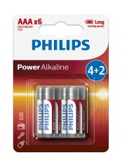 Philips baterie POWER ALKALINE 4+2ks blistr (LR03P6B/10, AAA, 1,5V)