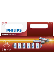 Philips baterie POWER ALKALINE (LR06P12W/10, AA, 12ks)
