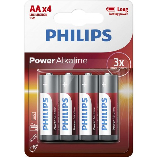 Baterie Philips PowerLife AA 4ks