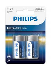 Philips baterie ULTRA ALKALINE 2ks (LR14E2B/10, C)