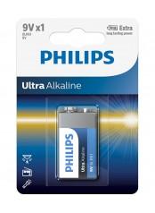 Philips baterie ULTRA ALKALINE 1ks (6LR61E1B/10, 9V)