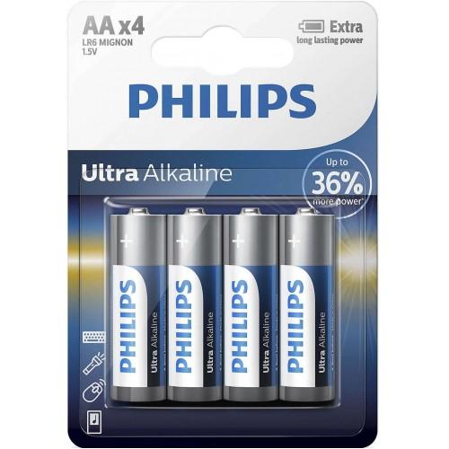 Baterie Philips Ultra Alkaline AA 4ks